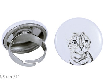 Ring with a cat -Toyger