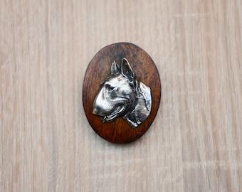 Bull Terrier, dog clipring, dog show ring clip/number holder, limited edition, ArtDog
