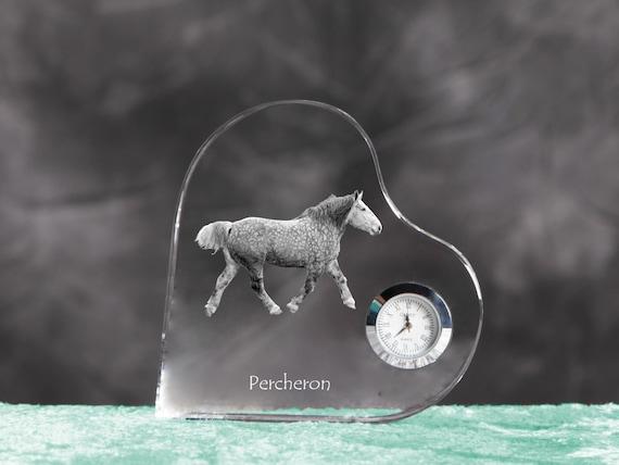 Keychain Art Dog Ltd Horse Crystal Keyring Exceptional Gift Percheron