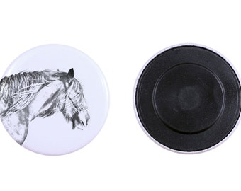 Magnet with a horse - Shire horse
