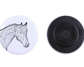 Magnet with a horse - Bay