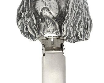 Cavalier King Charles, dog clipring, dog show ring clip/number holder, limited edition, ArtDog