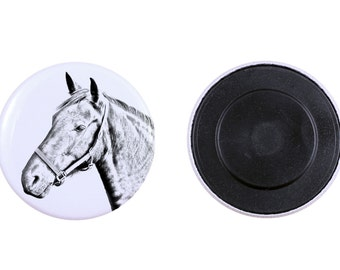 Magnet with a horse - Danish Warmblood