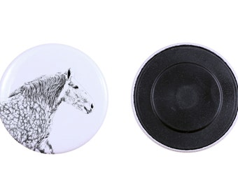 Magnet with a horse - Percheron