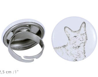 Ring with a cat -LaPerm