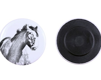 Magnet with a horse - Clydesdale
