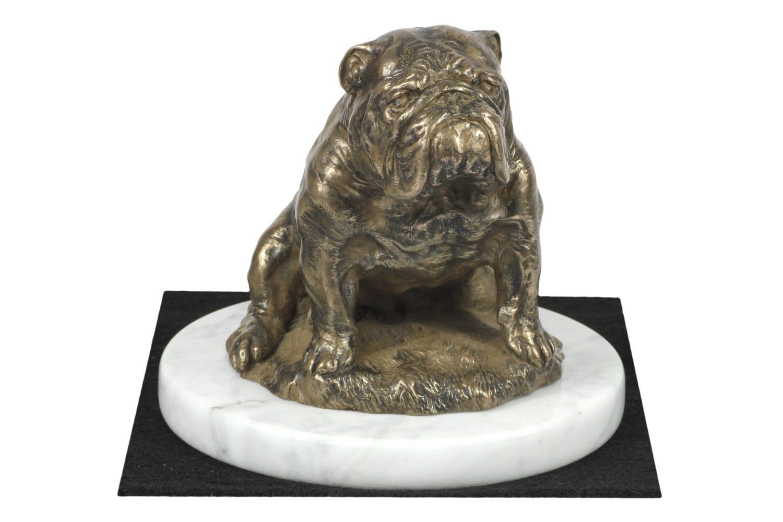 bouledogue anglais statue chien de base en blanc de marbre etsy. Black Bedroom Furniture Sets. Home Design Ideas