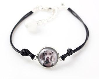 Weimaraner. Bracelet for people who love dogs. Photojewelry. Handmade.