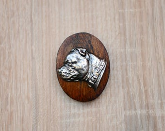 Staffordshire Bull Terrier, dog clipring, dog show ring clip/number holder, limited edition, ArtDog