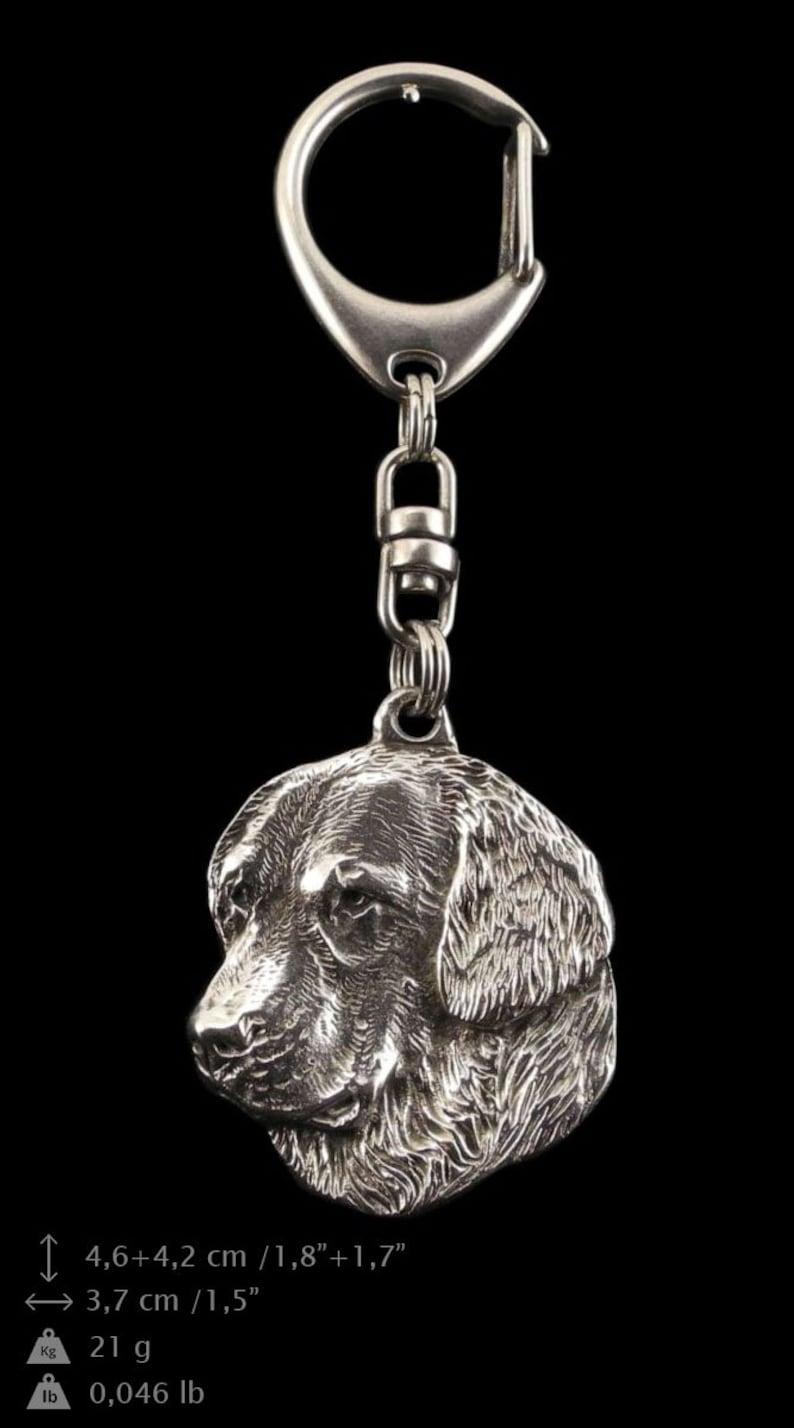 ArtDog NEW limited edition Dog keyring for dog lovers PRESTIGE set dog keyring and necklace in casket Golden Retriever