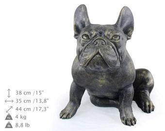 French Bulldog (sitting), dog natural size statue, limited edition, ArtDog