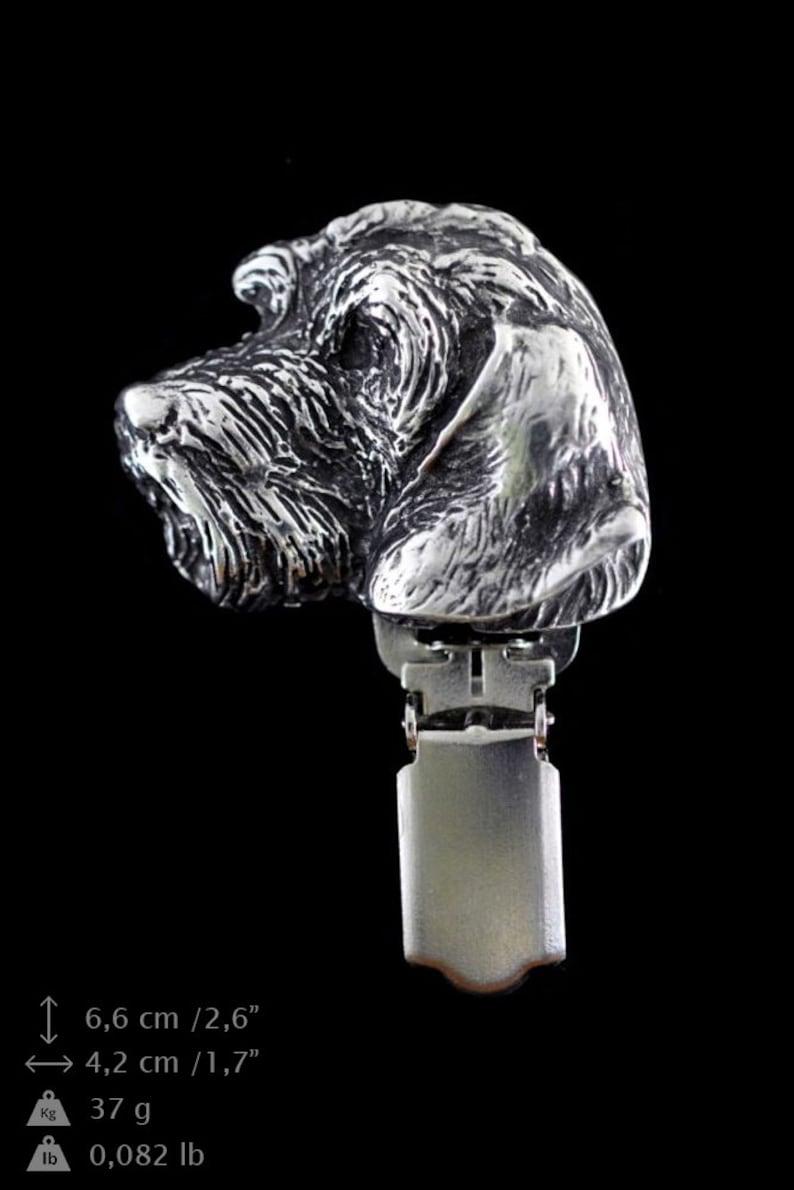 Tecker Wirehaired dog keyring NEW limited edition necklace and clipring in casket PRESTIGE set ArtDog Dog keyring for dog lovers