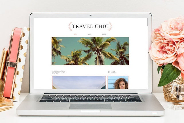 Premade Blog Template Wix Blog Template Lifestyle Blog Template