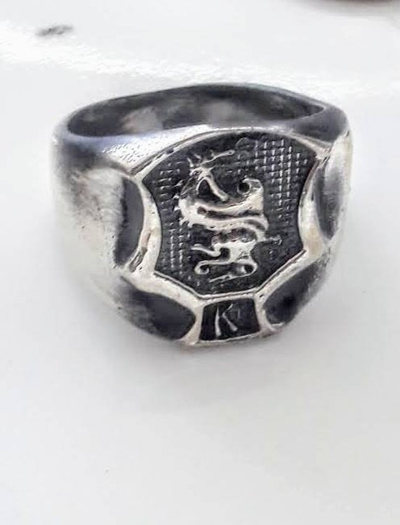 Kenpo Crest Ring In Solid Silver Ed Parker Okinawan Karate