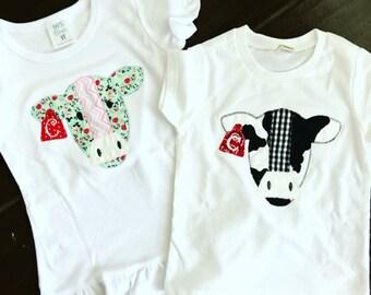 Cow Applique (please specify boy or girl)