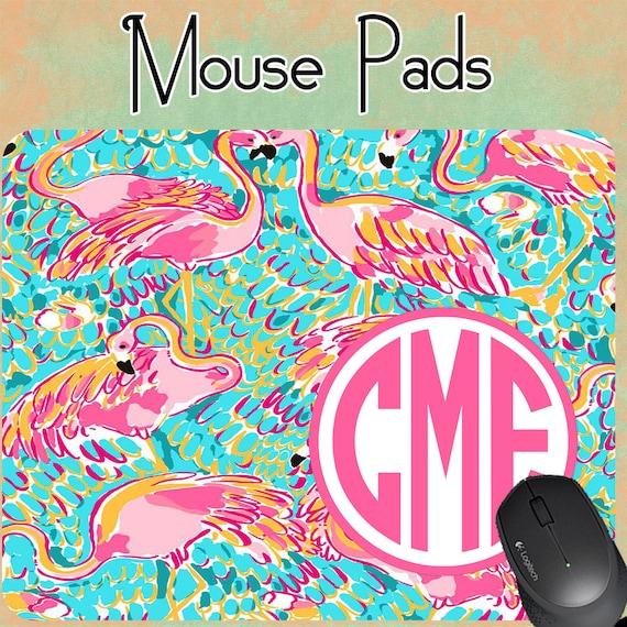 Monogram Mousepad Lilly Pulitzer Inspired Mousepad | Etsy