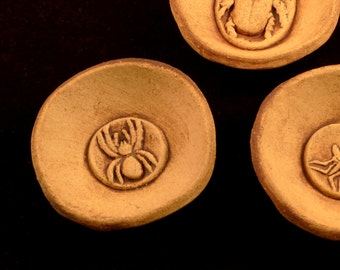 Small Stoneware Bowl Trio - Beetle, Spider and Fly