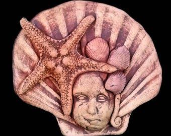 Ceramic Starfish Sea Spirit Plaque