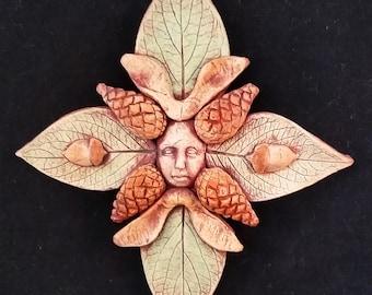 Woodland Spirit Mandala Stoneware Plaque