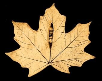 Stoneware Maple Leaf Spirits Plaque