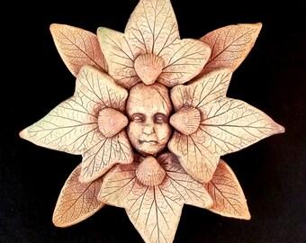 Stoneware Earth and Ocean Spirit Mandala Plaque