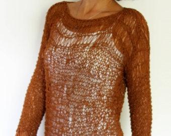 6d003a3a9de9d0 Sweater Knitting PATTERN- Amalfi Top Loose Knit Beach Cover Up  Open Knit  Summer Sweater Oversized Cotton Tank Top