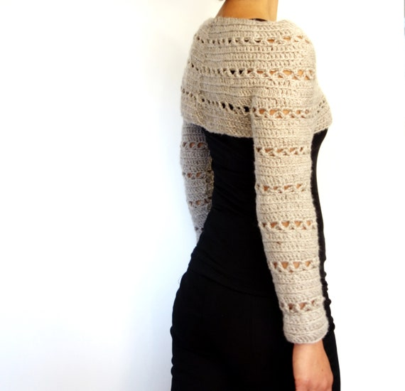 Sweater Crochet PATTERN Caramel Cropped Sweater/ Chunky Knit | Etsy