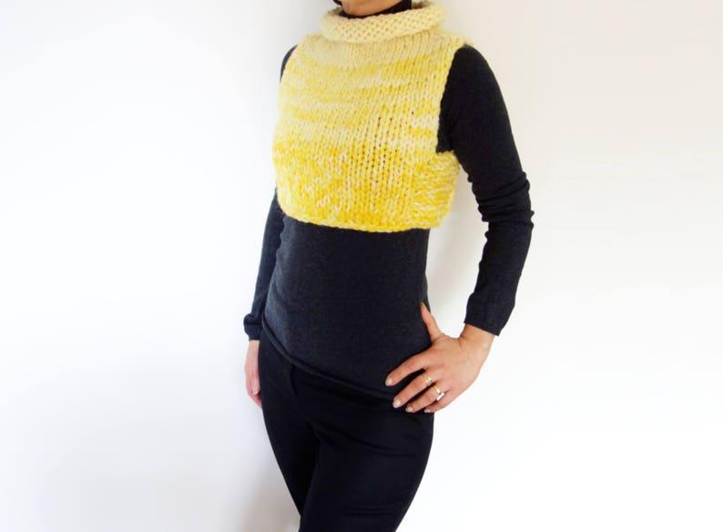 fd1faed700f9cc Knitting PATTERN Sunshine Cropped Super Chunky Vest Short