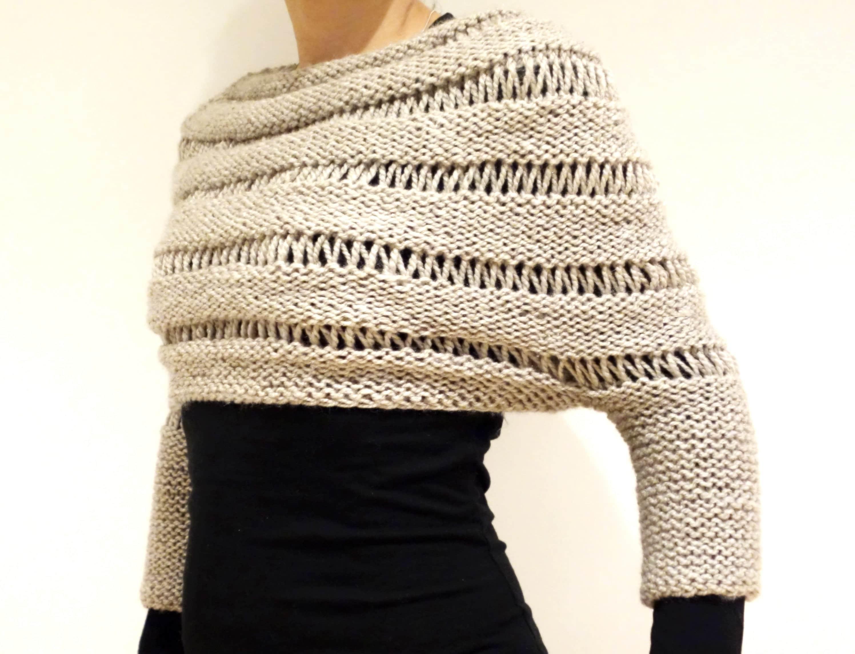 d845fabb6 Sweater Knitting PATTERN London Mist Cropped Sweater