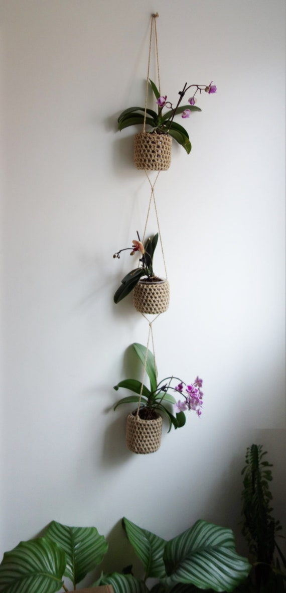 PDF Crochet PATTERN - 3 Tier Plant Pot Hanger/ Macrame Boho Decor/Indoor  Outdoor Wall Hanging, Trailing Plants Holder