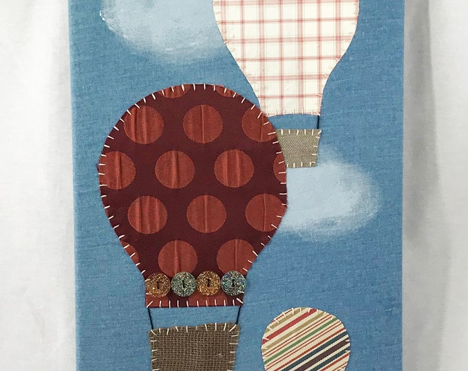 Featured listing image: Hot Air Balloons #5 Fabric Wall Art