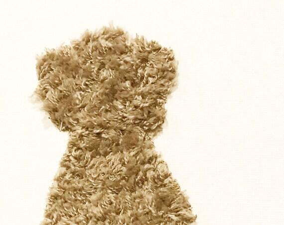Thoughtful Dog #4 Fabric Wall Art
