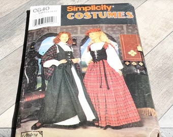 Vintage Sewing Pattern-Scottish Costume-Circa 1990's-Never Used
