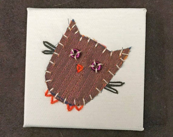 Little Owl #3 Fabric Wall Art