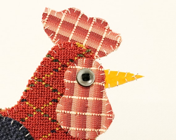 Rooster #3 Fabric Wall Art