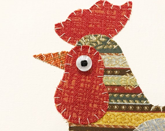 Rooster #1 Fabric Wall Art