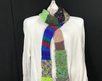 Wrap Scarf-Thin Patch Green Multi