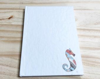 Blank Notebook-Seahorse Illustration