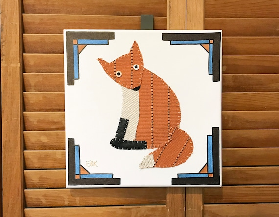Fox #3 Fabric Wall Art