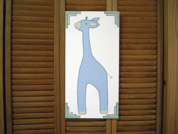 Large Giraffe #1 Fabric Wall Art