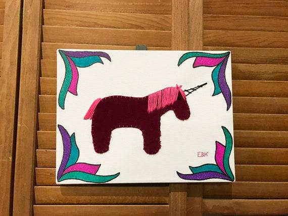 Unicorn #4 Fabric Wall Art