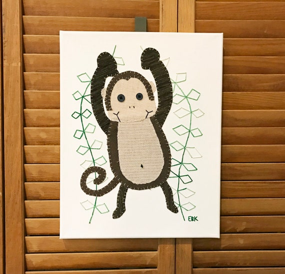 Monkey #7 Fabric Wall Art