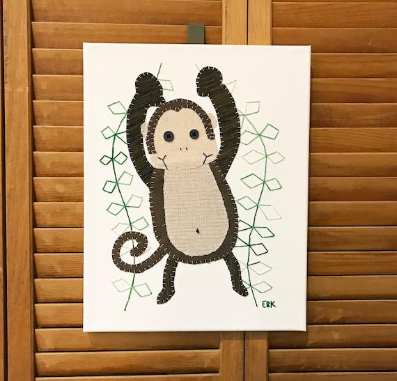 Monkey #7 Fabric Wall Art