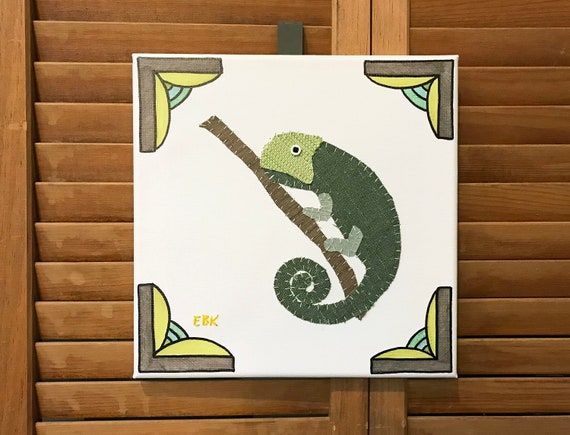 Chameleon #2 Fabric Wall Art