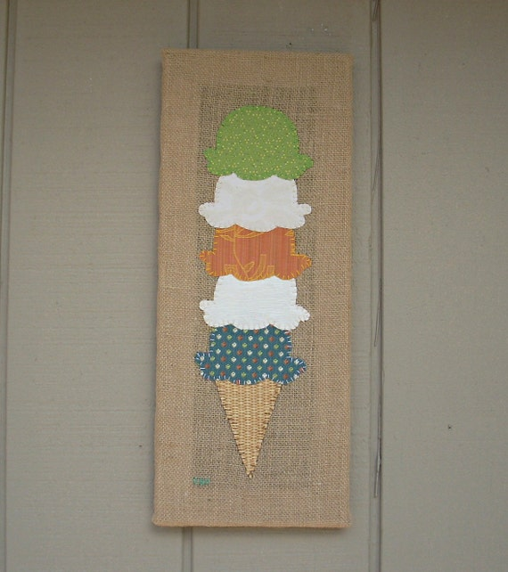 Ice Cream Cone #2 Fabric Wall Art