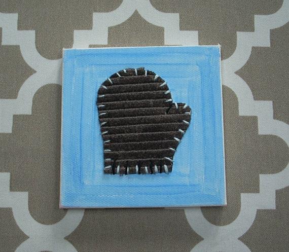Tiny Mitten #6 Fabric Wall Art