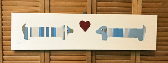 Dachshund Love #6 Fabric Wall Art