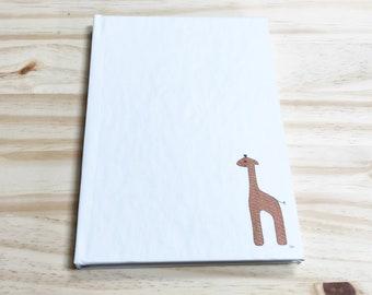 Blank Notebook-Orange Giraffe Illustration