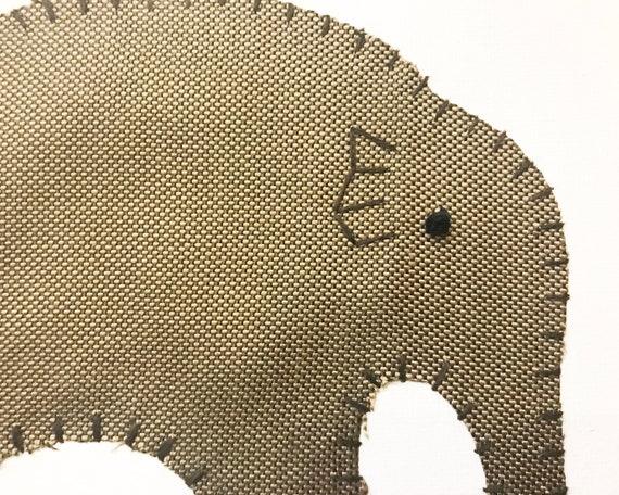 Baby Elephant #15 Fabric Wall Art