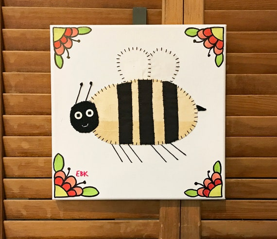Bee #4 Fabric Wall Art